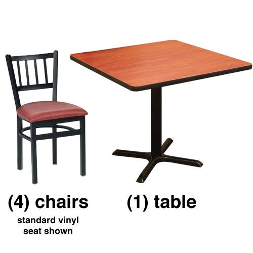 Wood Combo Chair: Vertical Slat Back Chair Combo Deal