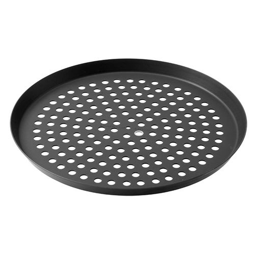 Lloyd Pans H63N20-09X.75-PSTK Hardcoated Perforated Pizza Pan, 8