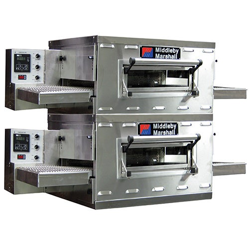 Middleby Marshall PS528G Double Stack Gas Countertop Conveyor Oven