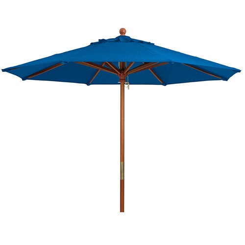 Grosfillex 98942031 Outdoor Umbrella 7 Ft Wood Pole Central