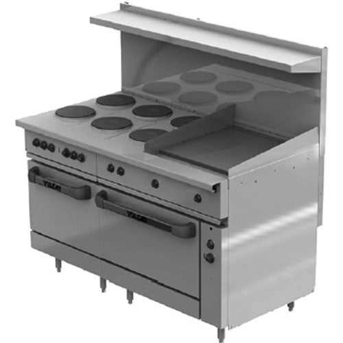 Sealed Elements Help Keep Range Top Clean And Sanitary
