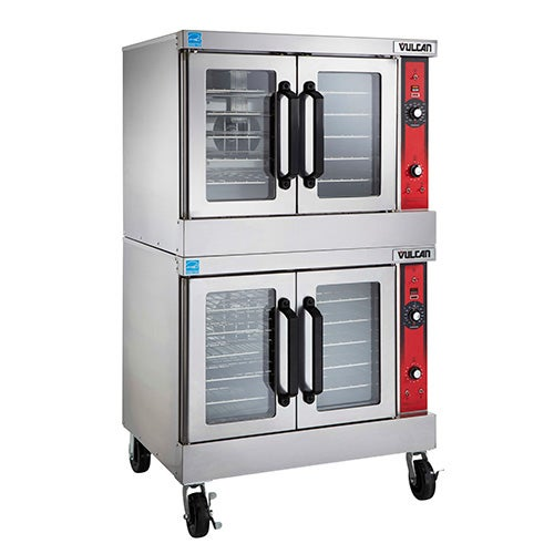 Vulcan VC66GC Double Stack Gas Convection Oven, Deep Depth - Central Restaurant Products