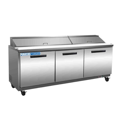 Kratos Refrigeration 69K-835 Sandwich Prep Table, 72 Inches Wide