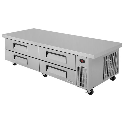 Turbo Air TCBE-382DR-E - Refrigerated Equipment Stand with Extended Top, 89-5/8