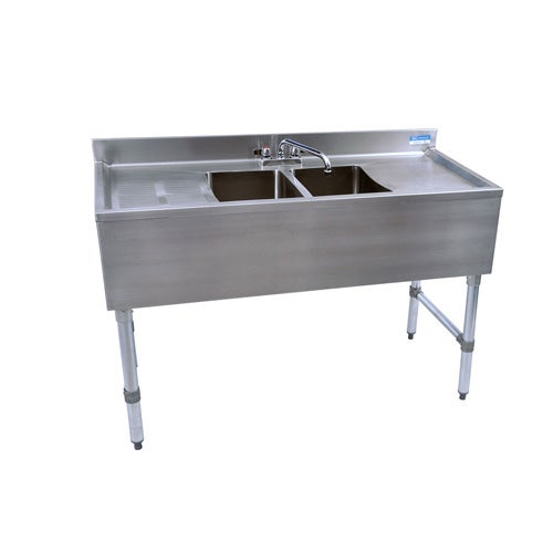 Bk Resources Bkubs 248ts Underbar 2 Compartment Sink With