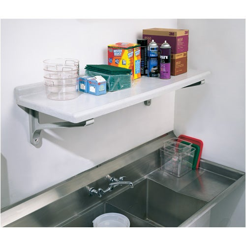 Cambro CSWS1848SK480 Camshelving Wall Shelf Kit 18X48S Speckled Gray
