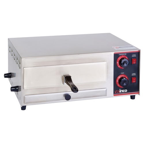 winco epo1 electric pizza oven 700 deg f with bell timer and stay on function - Countertop Pizza Oven
