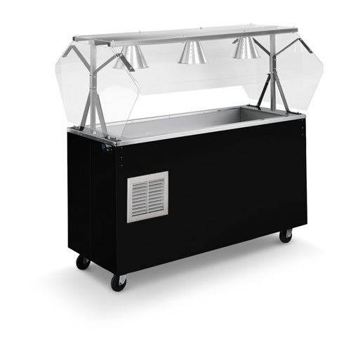 Vollrath R38715 46-inch 2-Series Affordable Portable Refrigerated Cold Food Station with storage base and door in black