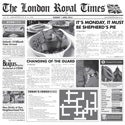 G.E.T. Enterprises 4-TN1000 Food-safe London Newspaper Print Basket Liner