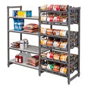 Cambro EA243672C96580 Ultimate #10 Can Rack Stationary Full-Size Elements Series Add-On Unit Brushed Graphite