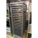 Cambro UPR1826FP40580 Camshelving Ultimate Sheet Pan Rack Full Size 40 Pan Capacity with Plastic Casters Brushed Graphite